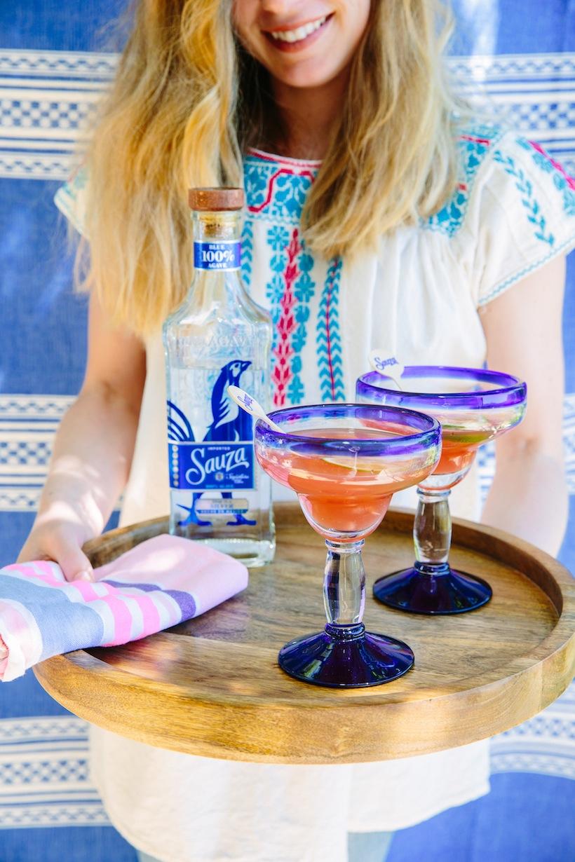 Sauza Tequila Cinco de Mayo party in the garden