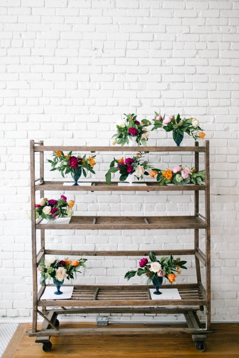 Floral arrangements at the Art of Hosting workshop