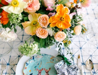 Margot Blair puts together beautiful floral arrangements