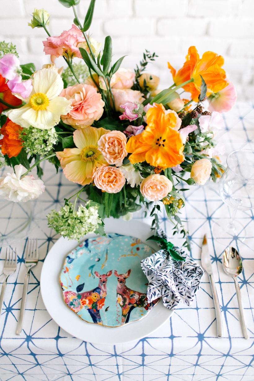 Margot Blair puts together beautiful floral arrangements