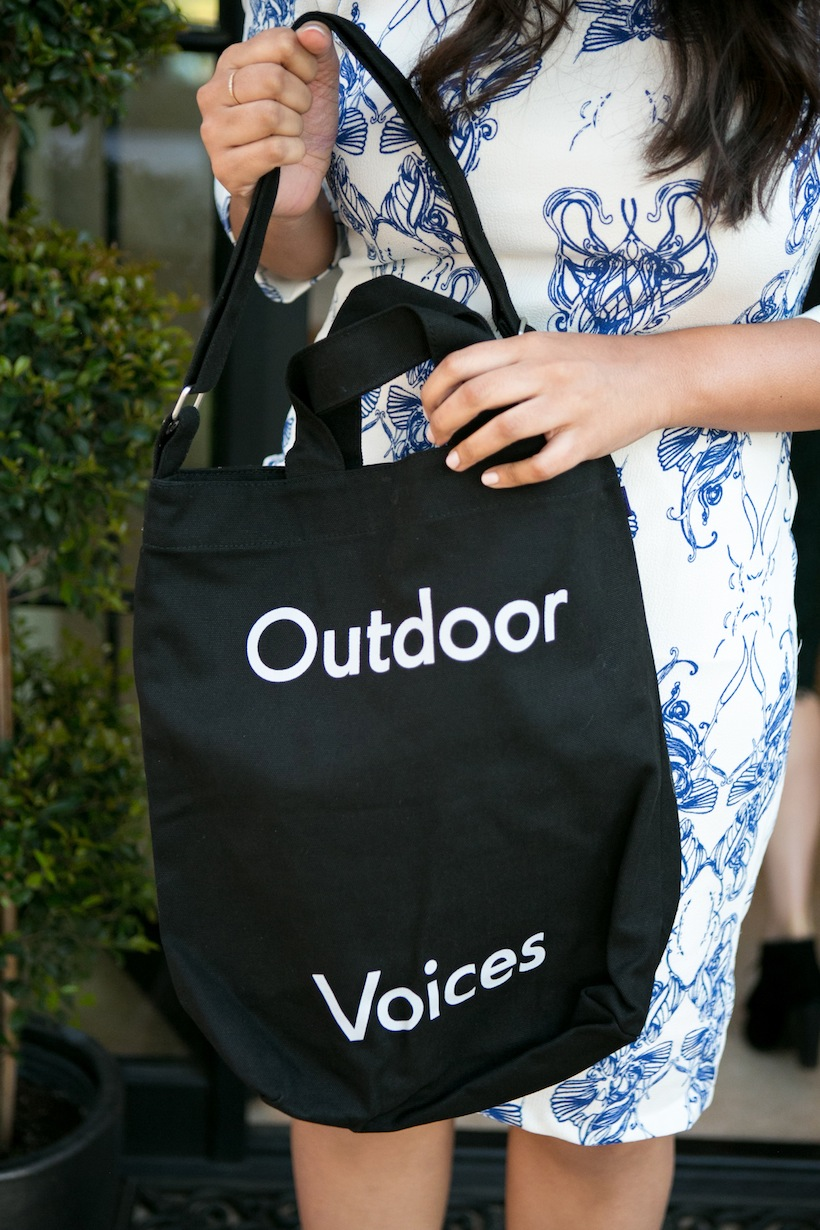 Outdoor Voices provided gift bags for all the party guests