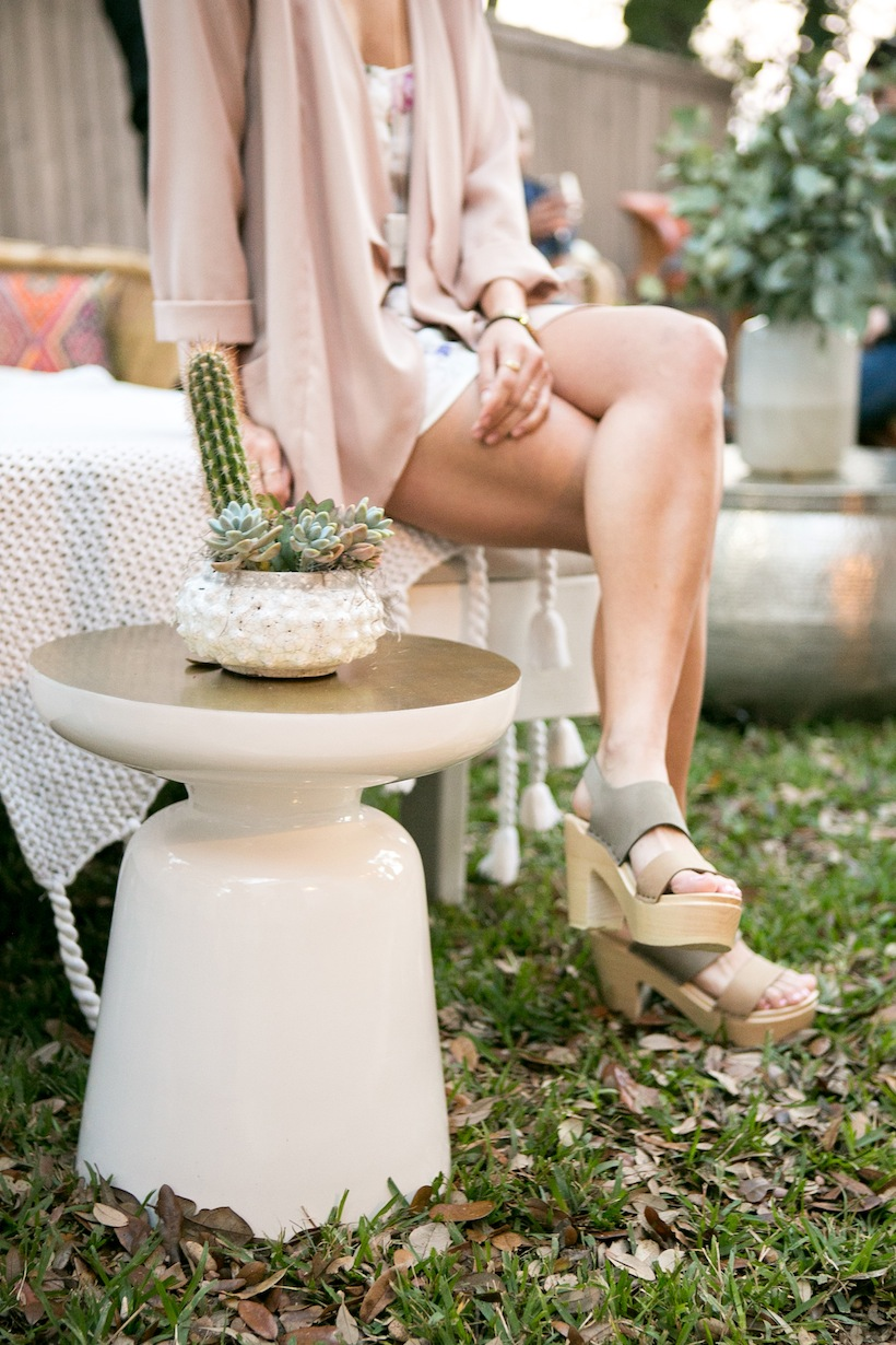 West Elm side tables made for gorgeous decor at the party
