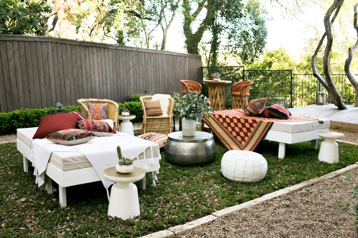 We were obsessed with the side yard party setup