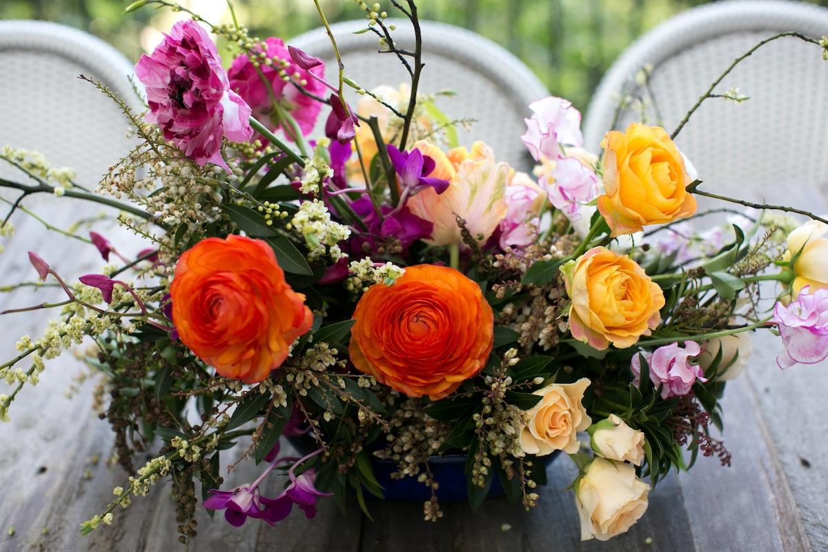 Margot Blair Floral put together gorgeous arrangements for the decor