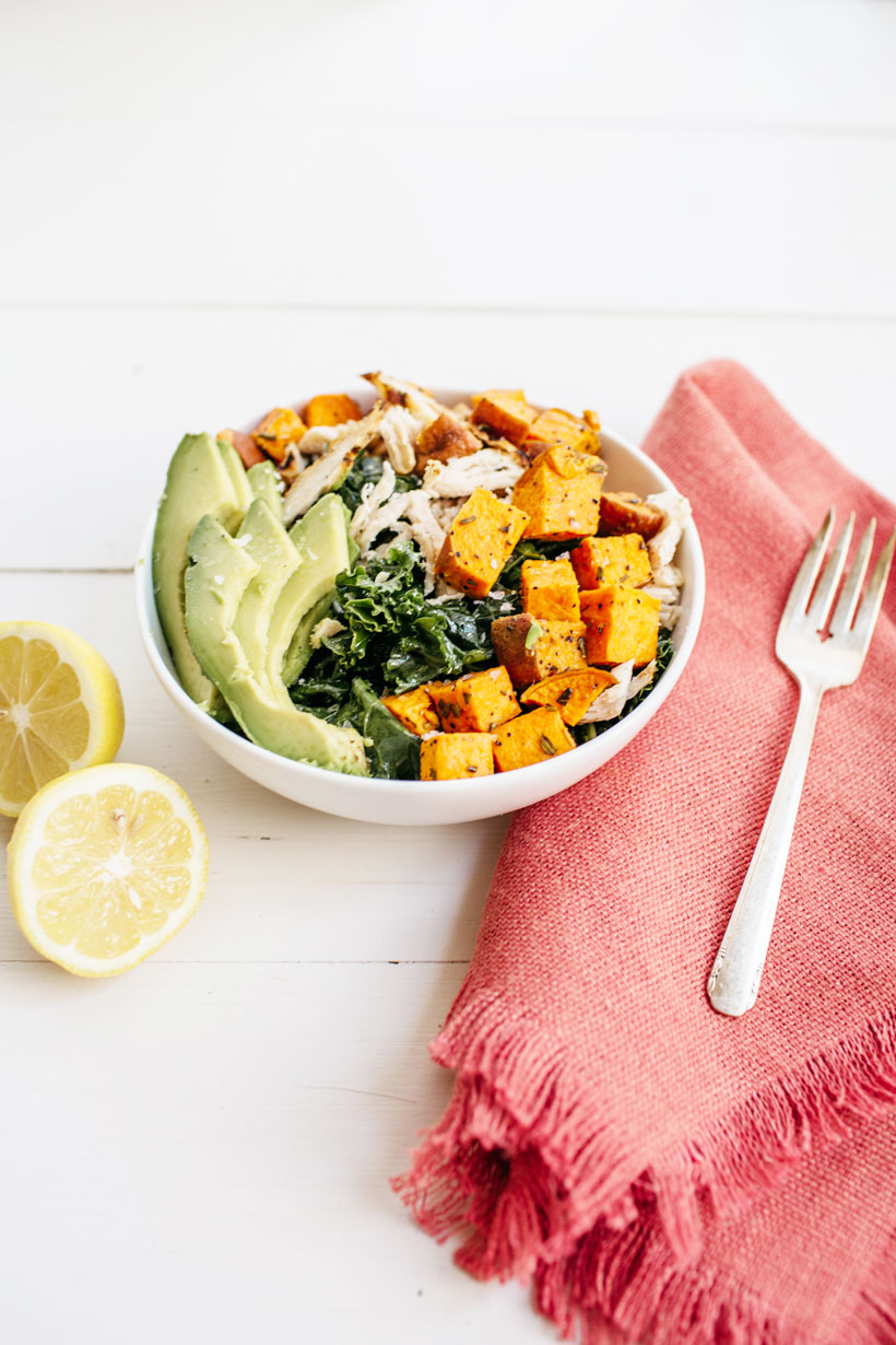 green and protein power bowl