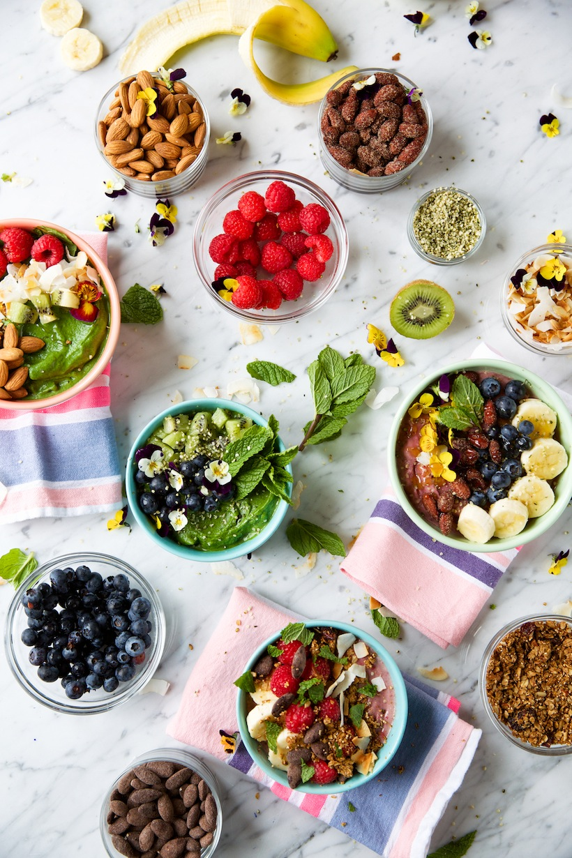 You can customize smoothie bowls with almost anything