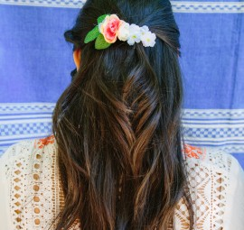 DIY Fiesta Flower Hair Clips