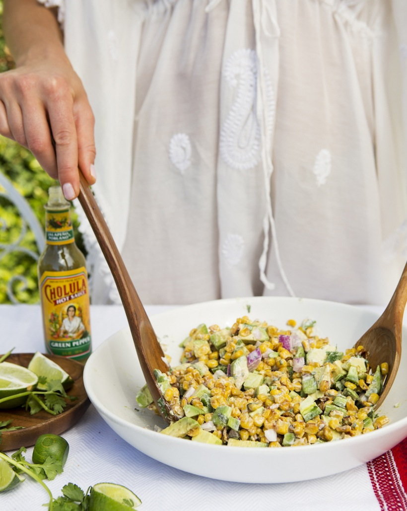 Mixing a dish right at the table is a great way to get guests excited