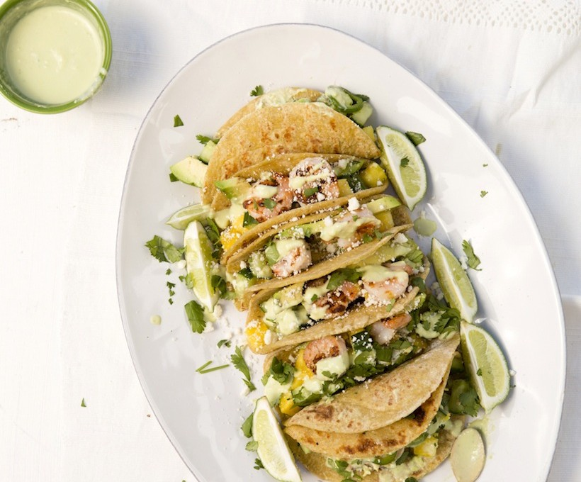 Shrimp tacos make for a light and delicious meal
