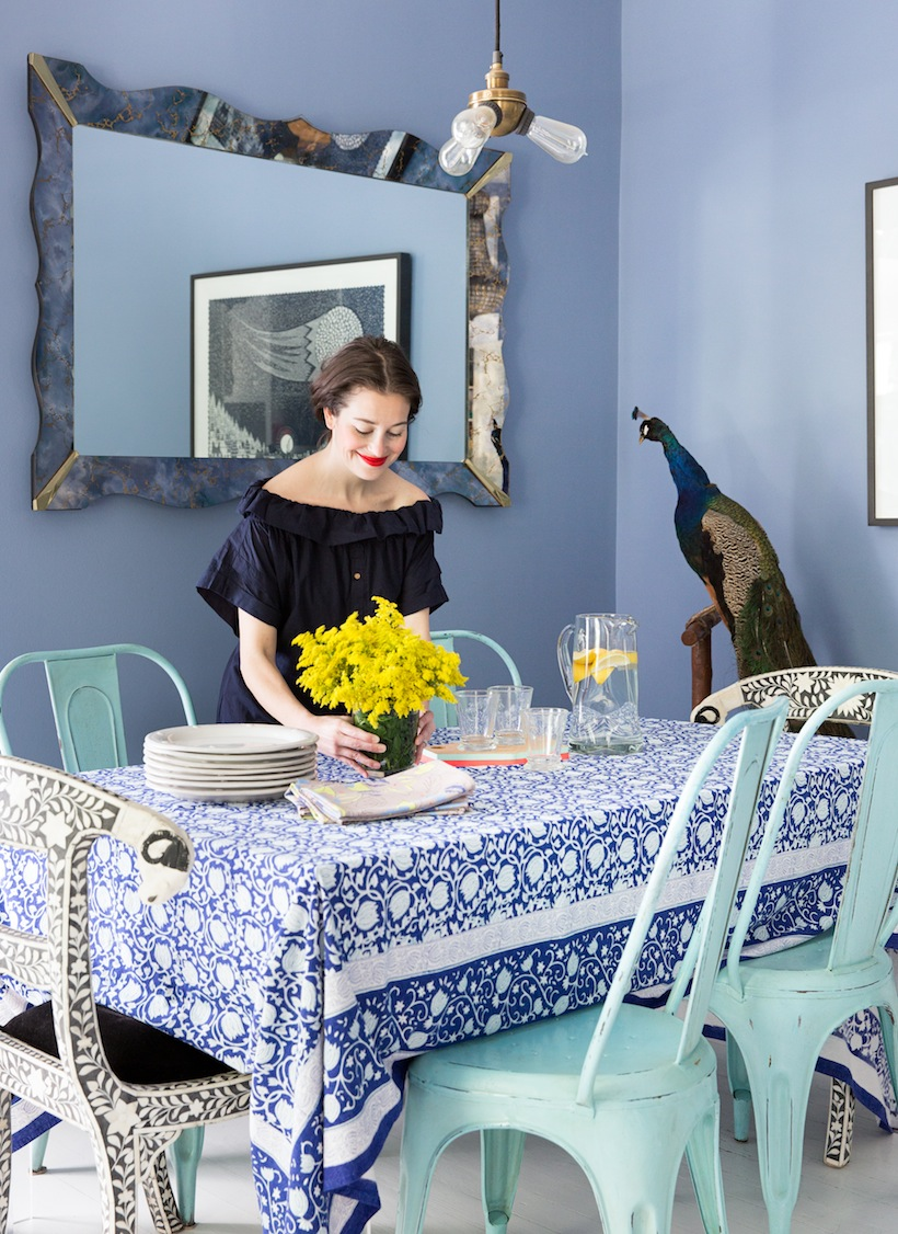 We love Kim West's home for it's gorgeous colors and setup