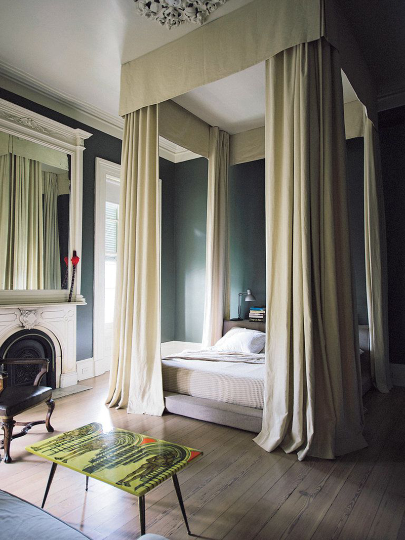 ceiling mounted modern canopy & 13 Dreamiest Canopy Beds - Camille Styles