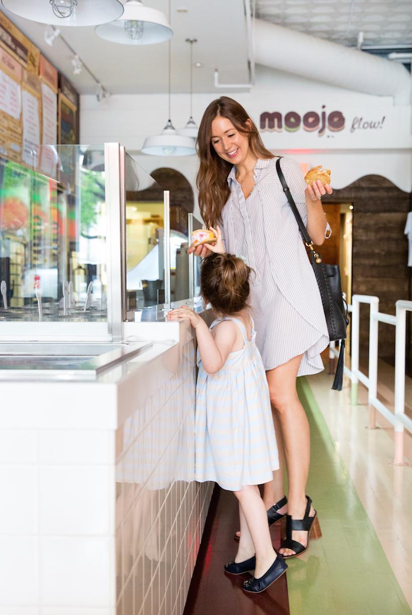 ice cream sandwich date at Moojo in Austin