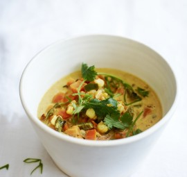 Sweet Potato Poblano Soup! Such a delicious treat for a cold day