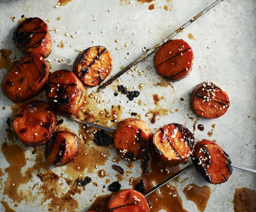 Yakitori Style Grilled Sweet Potatoes