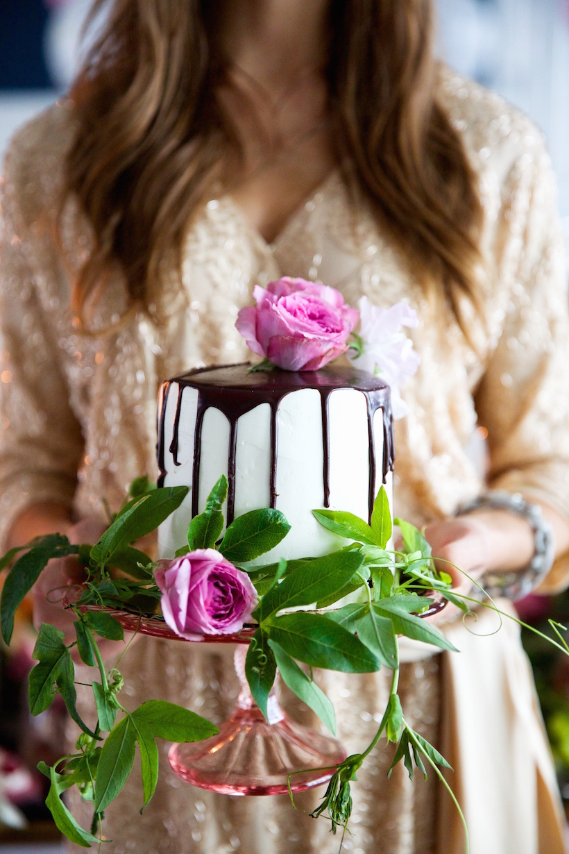 gorgeous cake for a dessert-filled bridal shower