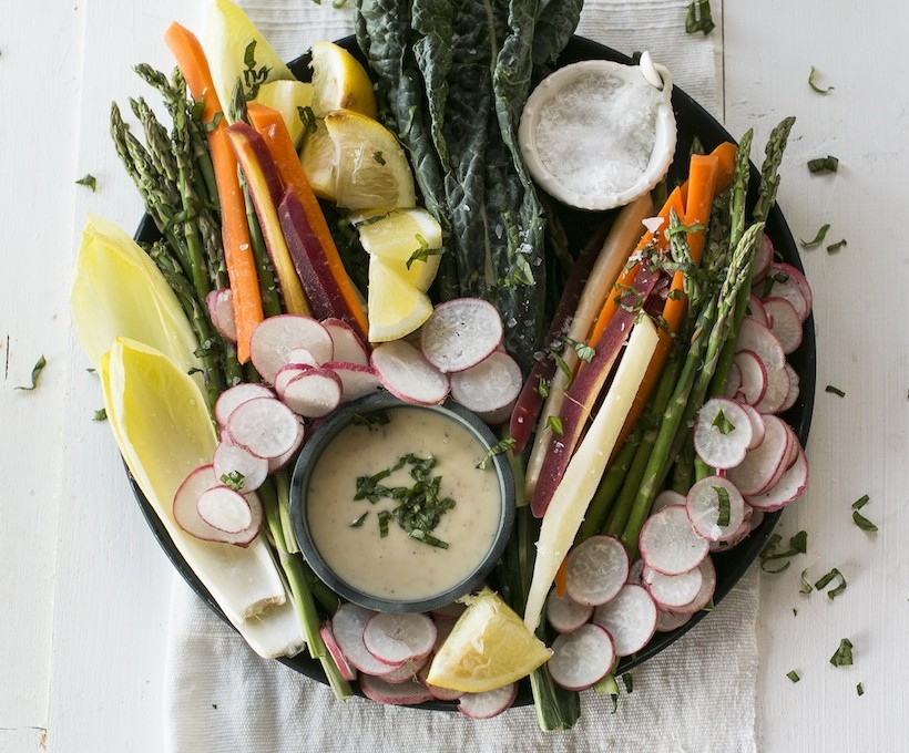 A plate of crudites makes for a beautiful party