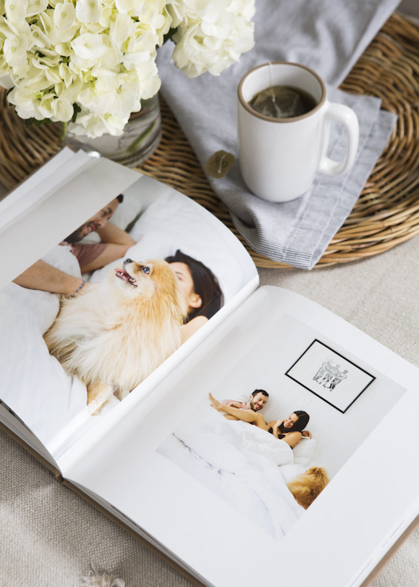sweet and simple idea for an engagement photo book