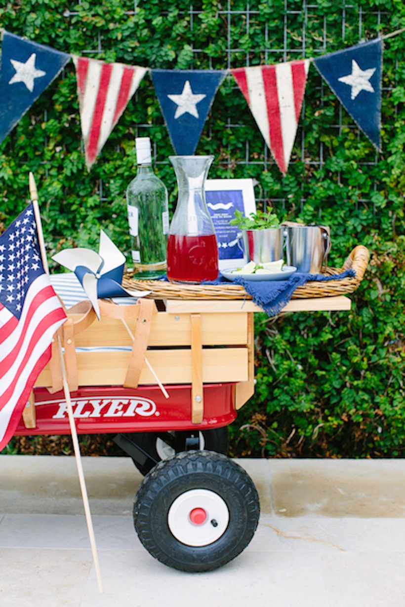 This is the cutest way to set up a bar cart