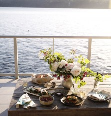 Sunset Dinner Party Off Of Vashon Island