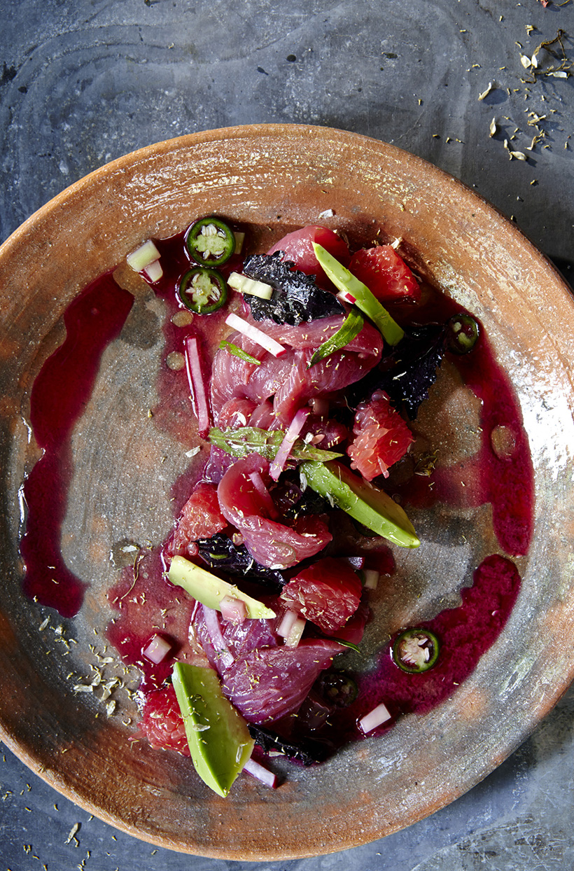 Tuna ceviche from tulums hartwood camille styles excerpted from hartwood by eric werner and mya henry artisan books copyright forumfinder Image collections