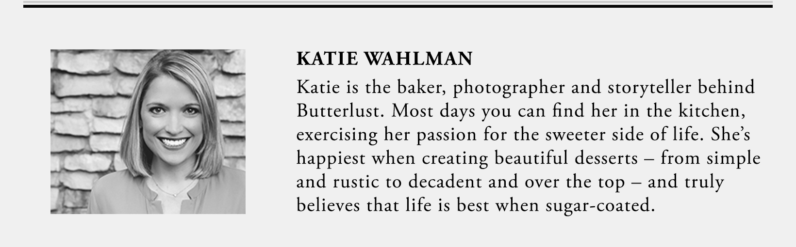 Katie Wahlman, Butterlust Blog