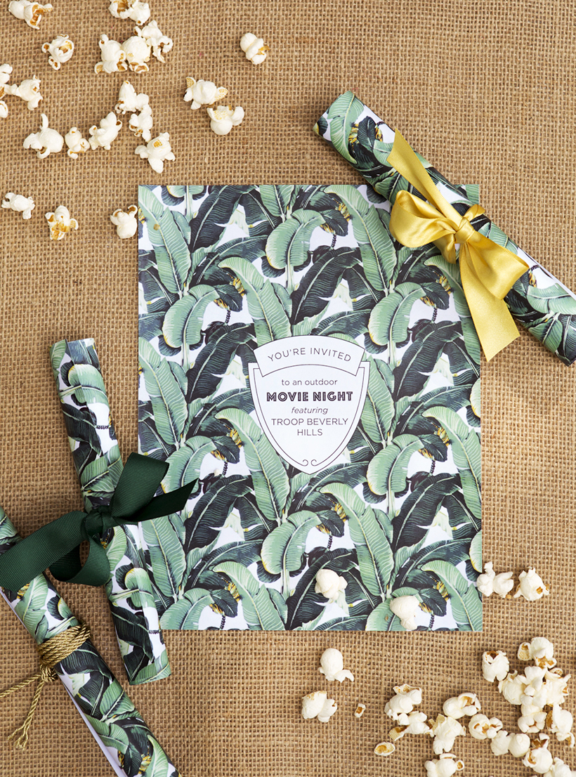 Free Printable Troop Beverly Hills Invite! How cute is this??