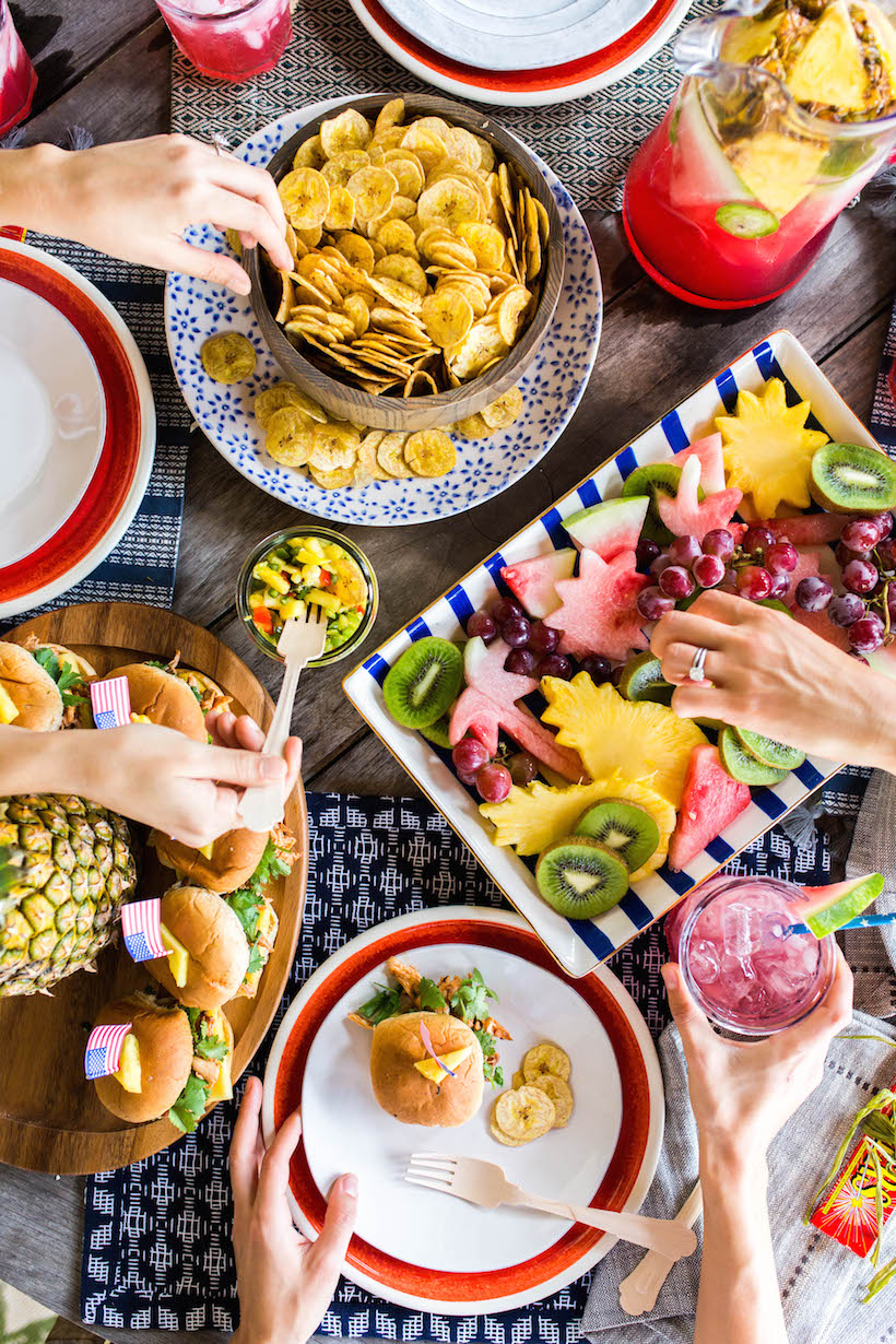 Menu for a tropics-inspired Fourth of July