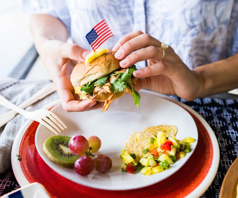 An island-inspired Fourth of July menu... yum!