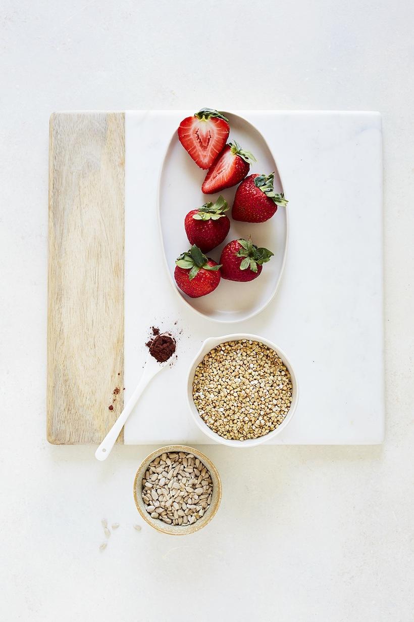 strawberry buckwheat porridge