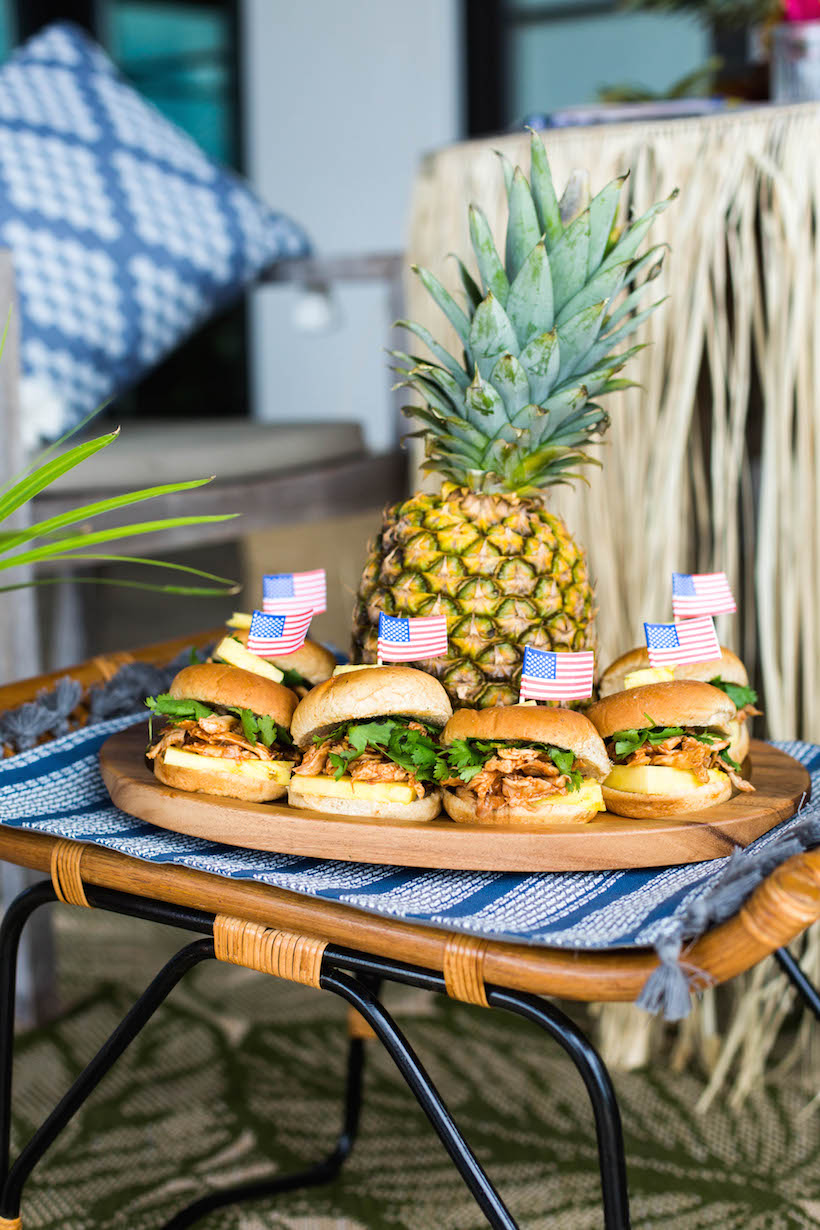BBQ Pulled Chicken Sliders for the Fourth of July