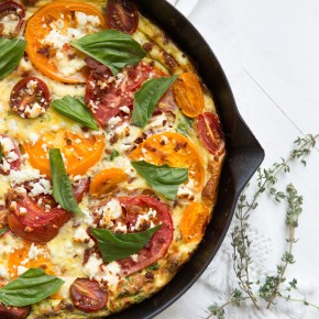 This BLT Frittata will become your new favorite easy brunch recipe to feed a crowd!