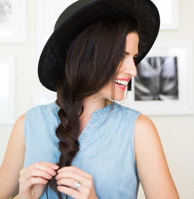 This braid will stay put without a hair tie!