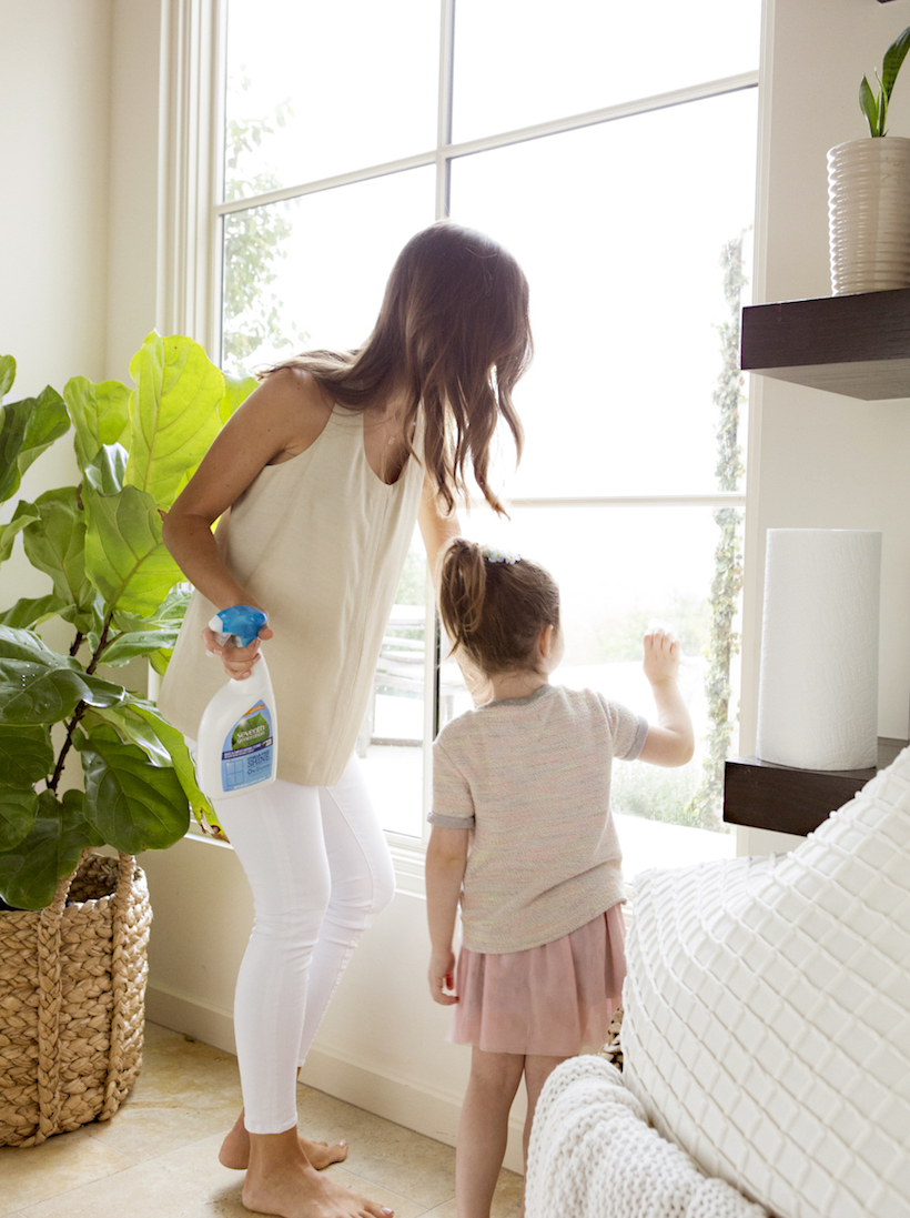 simple cleaning activities that kids can help with -- like cleaning the windows