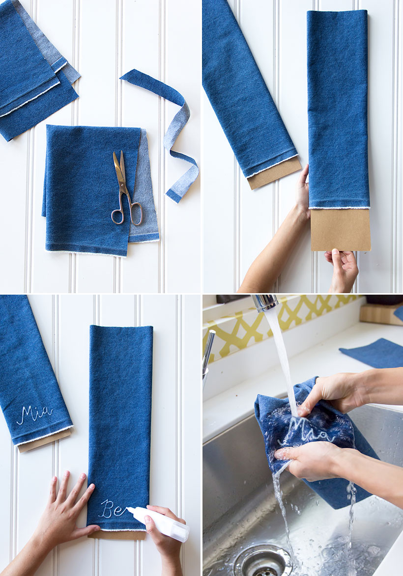 Bleached Monogram Napkins Camille Styles