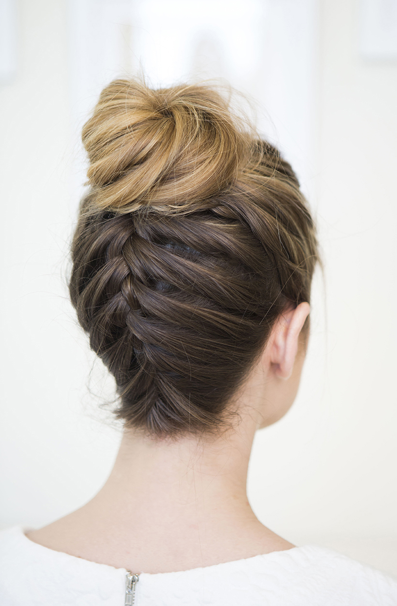 Upside Down Braided Bun Camille Styles