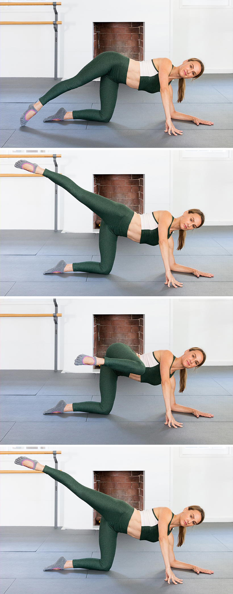 open leg lifts -- now THIS will get your butt in shape!