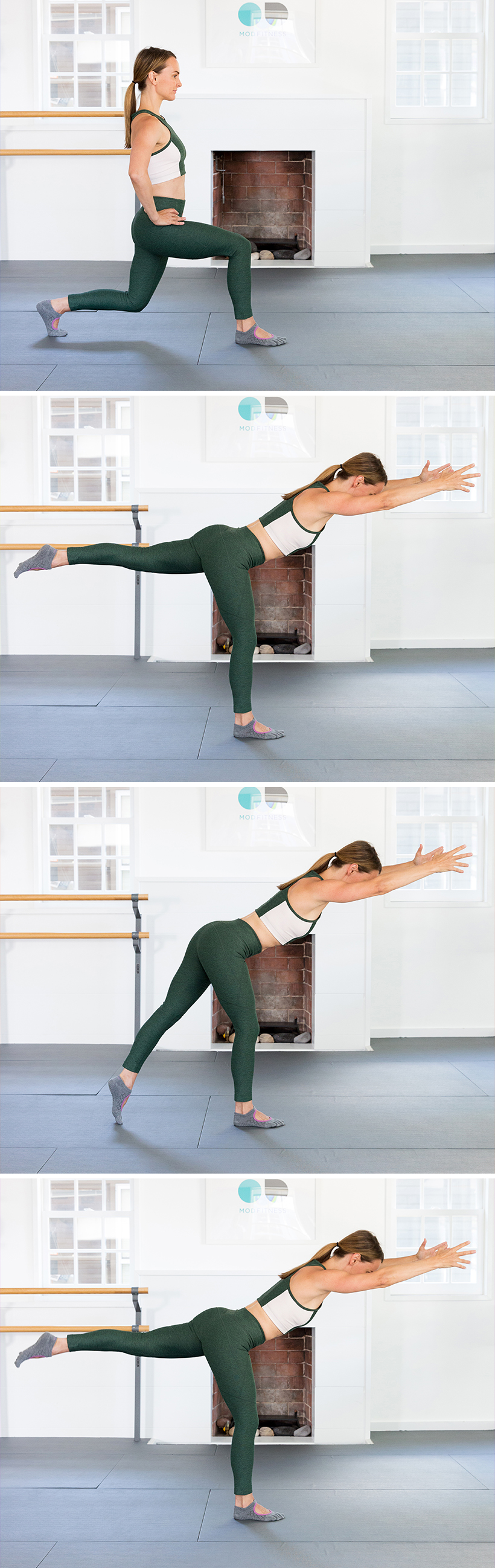 lunge with hip extension -- this will get your butt in shape