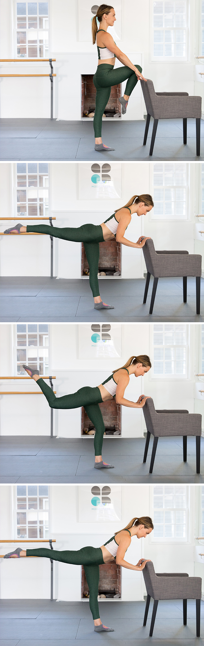 modified push up with a chair - totally gonna try this to work out my butt!