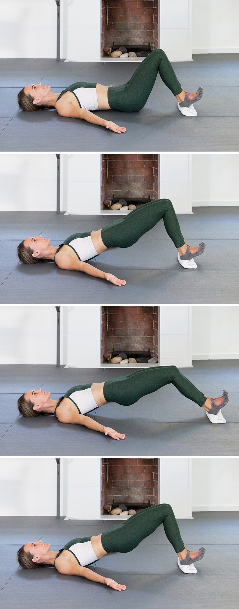 sliding hamstring curls - totally gonna try this while watching TV to work out my butt!