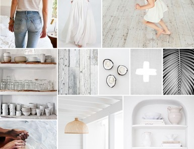 All White Mood Board