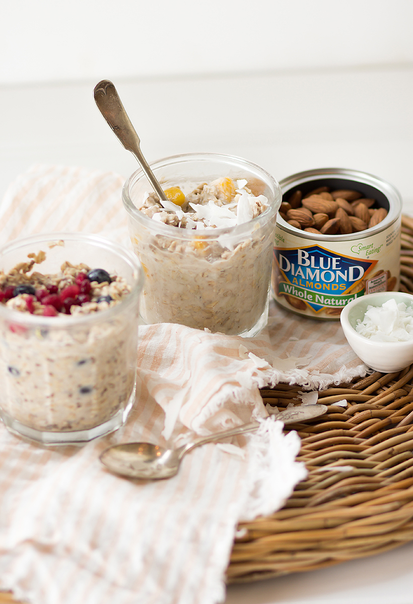 Overnight Oats 2 ways -- my current favorite make-ahead breakfast