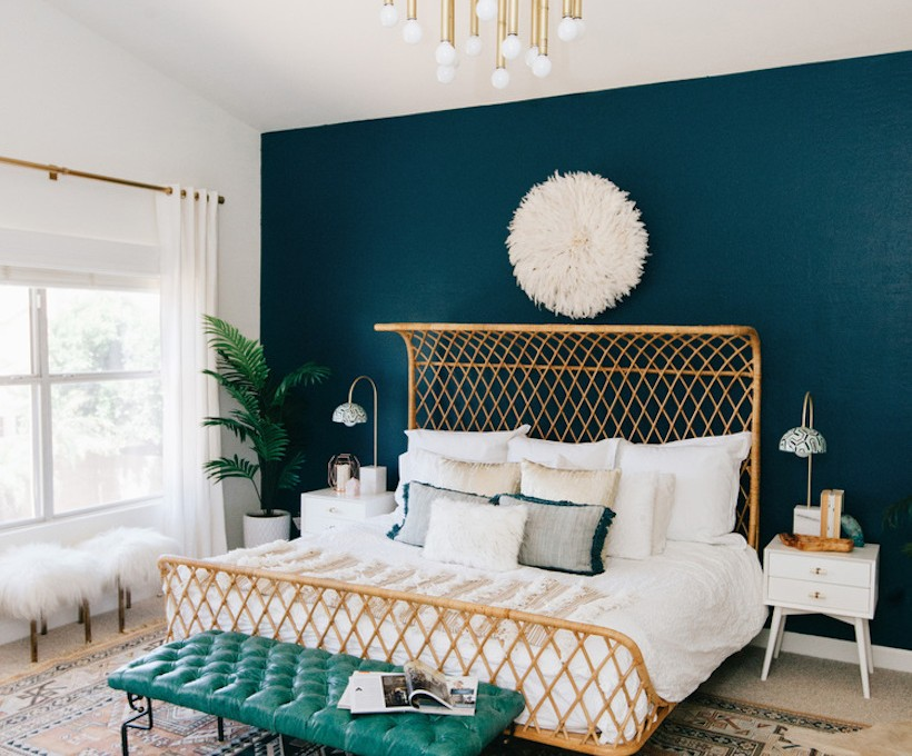anthropologie rattan bed