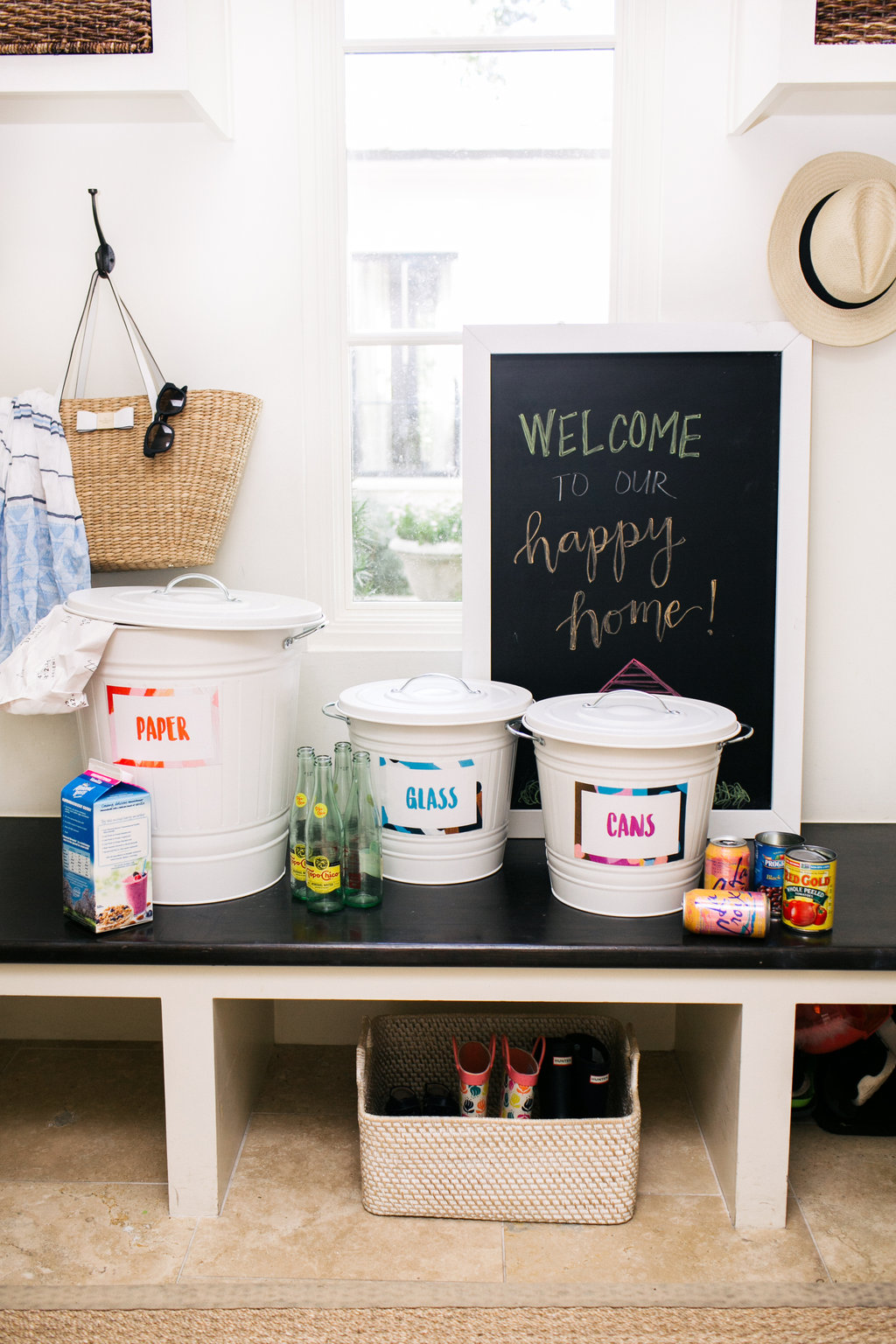 How to Setup a Home Recycling Station - Camille Styles