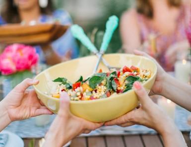 raw corn summer salad
