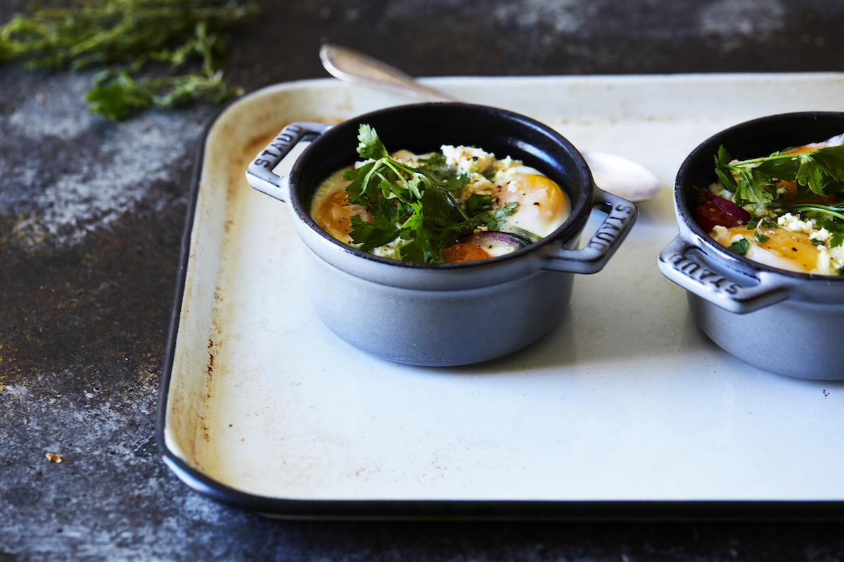 ... feta tomato and egg bake recipe yummly tomato and feta baked eggs