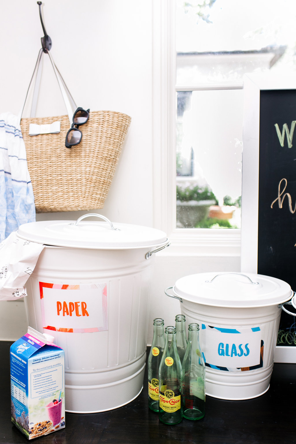 create your own cute recycling bins!