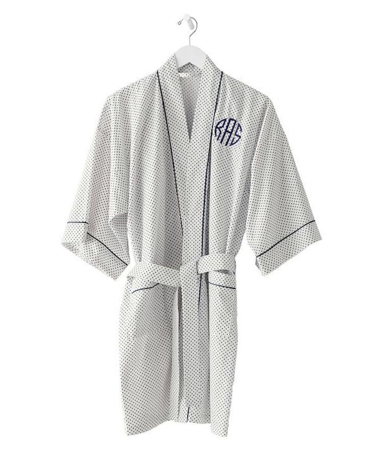 preppy monogram robe