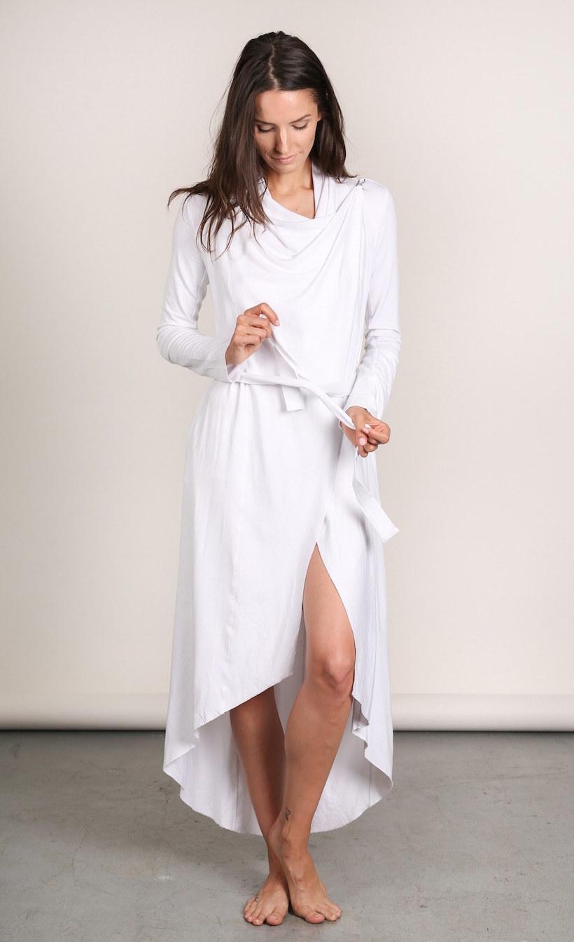 slinky white robe