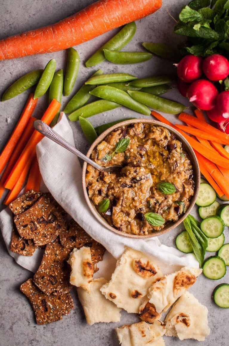 roasted eggplant dip from salt and lavender