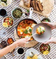 gorgeous israeli breakfast spread. NOMS!